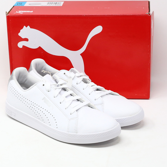 1c563ff4 Puma Ladies' Leather Shoe Smash Perf Met White Boutique